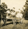 1904-1911 Seven Women in a Horse Drawn Buggy